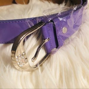 New Beautiful Lavender Belt all leather